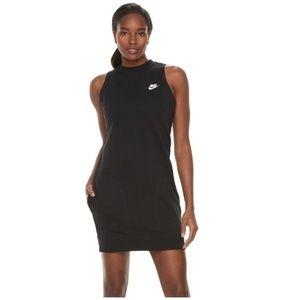 Nike black sleeveless mini dress